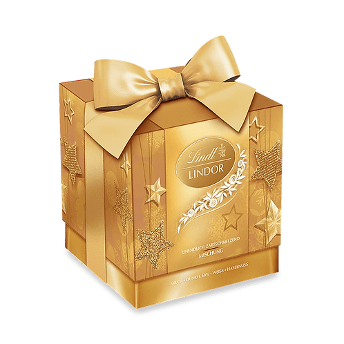 Christmas Gift Chocolate Lindor Xmas cube mix, 2 x 99g