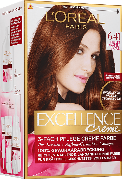 Excellence Coloration Light Caramel Brown 6.41, 1 pc