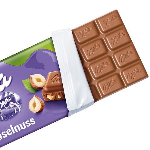 Milka Chocolate Bar Hazelnut 100g