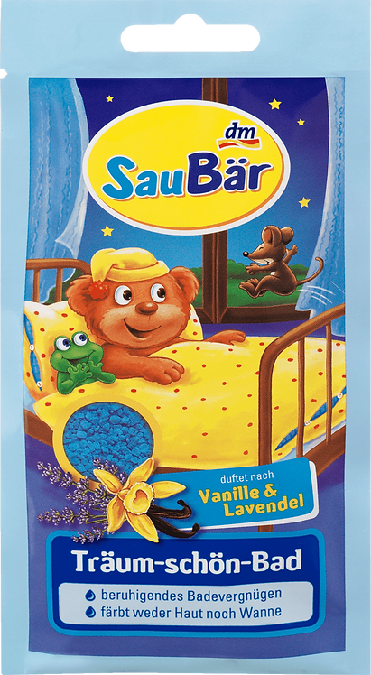 Children Dream Bath vanilla and lavender Soothing bathing pleasure 5 Packs