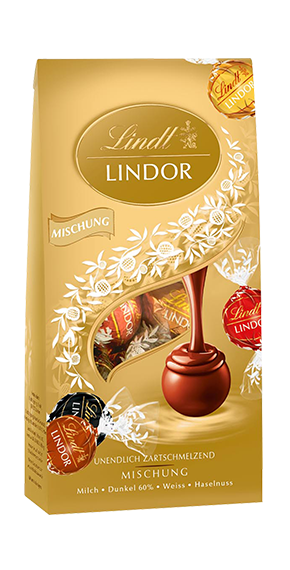 LINDT PREMIUM LINDOR BALL BAG MIX CHOCOLATE, 137g