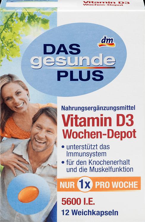 Vitamin D, 5600 IU Tablets, 12 pcs