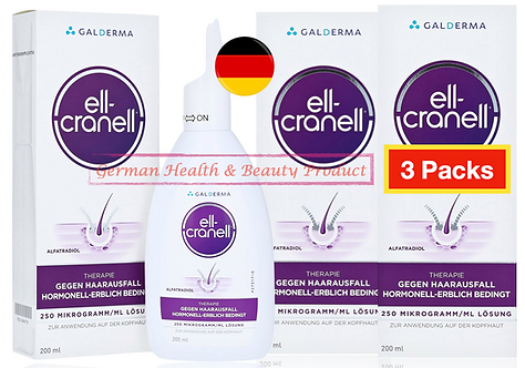 3 X 200ml - Ell Cranell Alfatradiol Anti Hair Loss Hair Growth Root-Dama