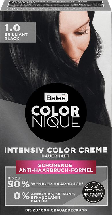 Balea COLORNIQUE Hair Color Brilliant Black 1.0 1 Pack