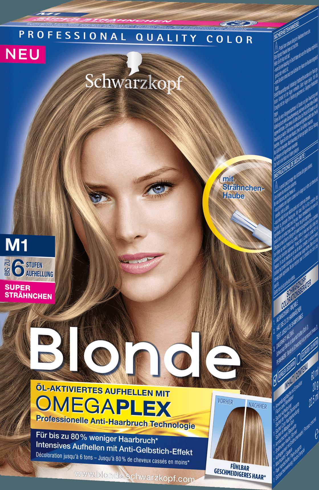 M1 blond schwarzkopf M1 Streaking