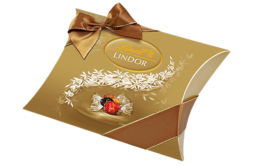 LINDT PREMIUM LINDOR CUSHION PACK MIX CHOCOLATE, 323g