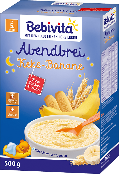 Evening porridge milk biscuit-banana after the 4th month, 500 g