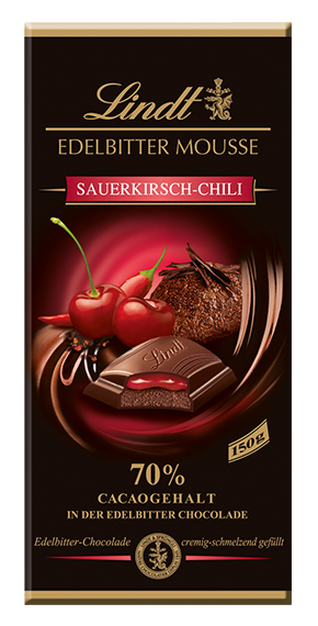 EDELBITTER MOUSSE SOUR CHERRY CHILI, 150g