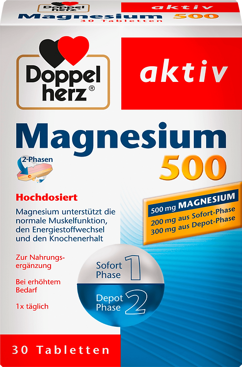 Magnesium 500 tablets 30 pieces, 50.2 g