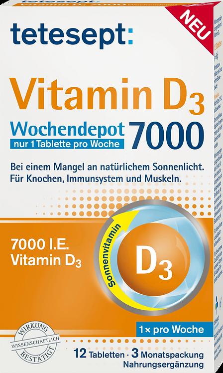 Vitamin D 7,000 depot tablets, 12 pcs