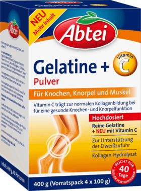 Abtei Gelatin powder +Vitamin C , 400 g Dietary supplements