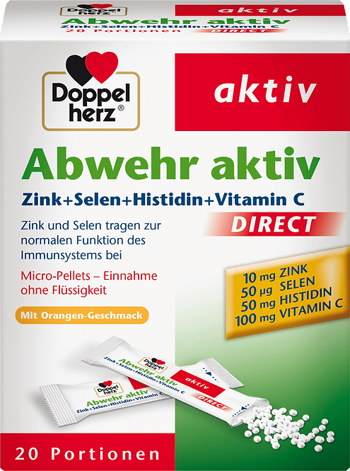 Zinc + Vitamin C and selenium Defense active direct granules 20 pcs., 26 g