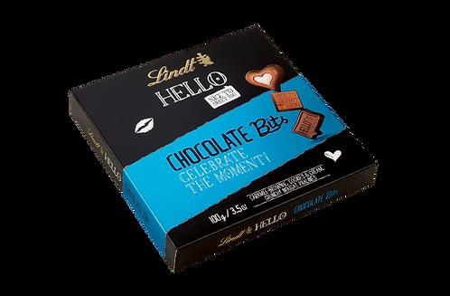 LINDT HELLO CHOCOLATE BITS, 100g