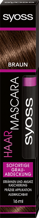 Syoss Hair Mascara Brown, 16 ml