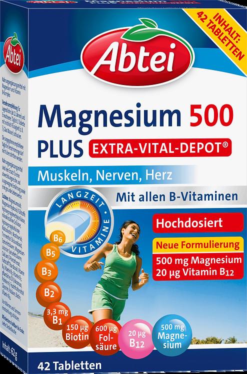 Abtei Magnesium 500 Plus Vital Depot Tablets 42 pcs, 64 g