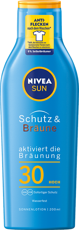 NIVEA SUN Sun Lotion Protection & Tan SPF 30, 200 ml