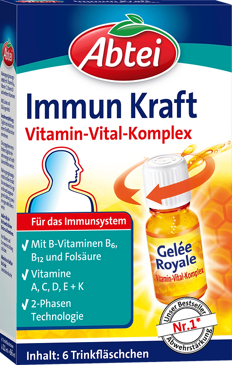 Abtei Immune power drinking bottle 6 pcs, 66 ml