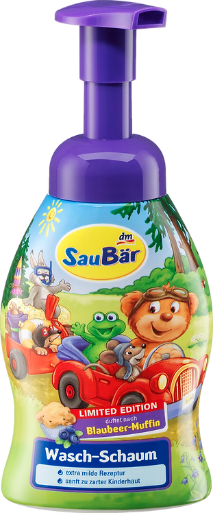 Children Washing foam blueberry Vegan muffin, 250 ml