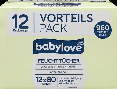Premium Baby Wet wipes with aloe vera, Bulk 12 x 80 pieces, 960 pcs