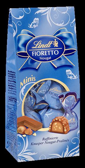 LINDT PREMIUM FIORETTO MINIS NOUGAT CHOCOLATE, 115g