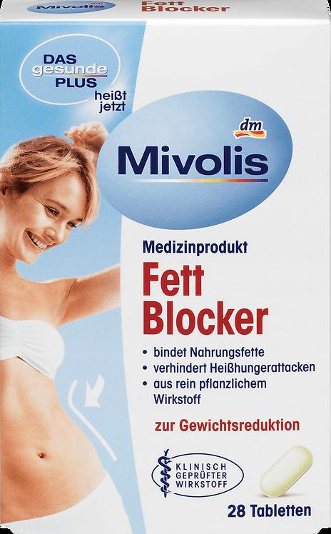 Mivolis Fat Blocker Tablets with Pure Vegetable Active Ingredient, 28  pcs.