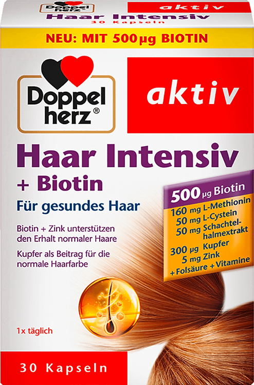Hair Intensive with Biotin & zinc, L-cysteine and horsetail extract 17.4 g
