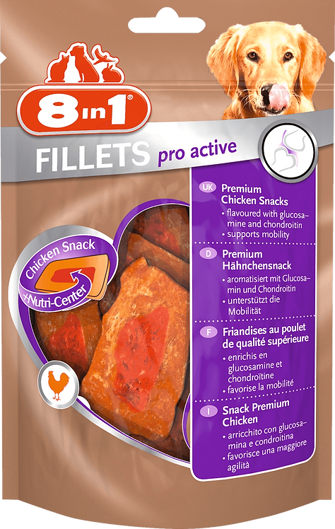Snack for dogs pro active chicken fillet 80 g