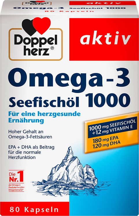 The Best Omega-3 sea fish oil vitamin E 1000 capsules 80 pieces, 107.8 g