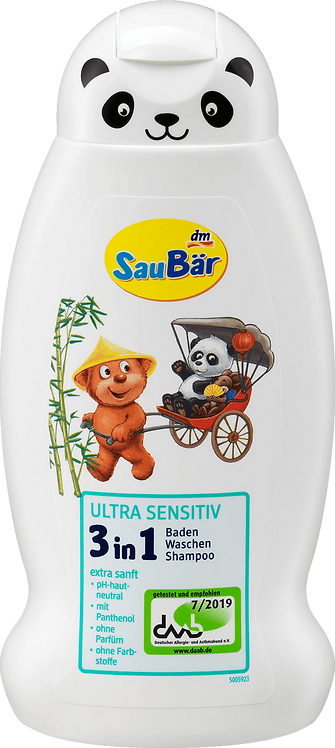 Children and Kids Ultra Sensitive 3in1 Bathing Wash Shampoo, 300 ml