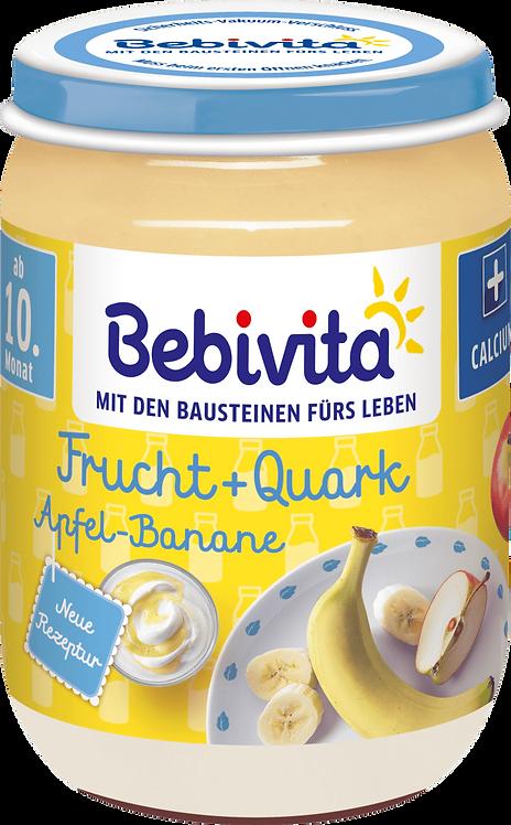 Fruit yoghurt apple-banana quark from the 10th month, 190 g