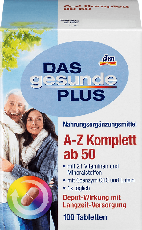 A-Z Complete Vitamins from Age 50 Tablets, 100 pcs