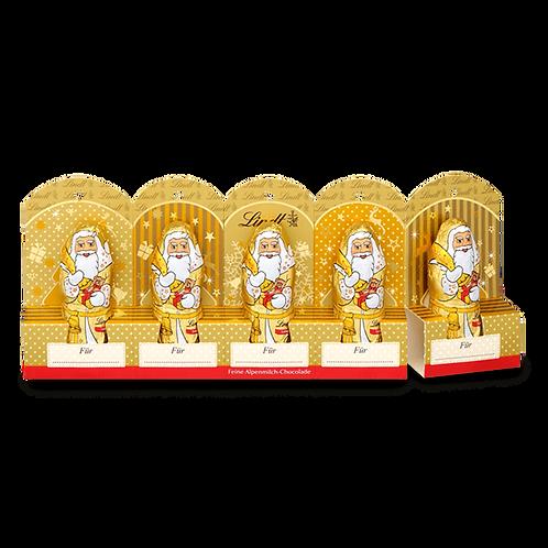 Christmas Gift ChocolateMini Santa Clauses Gold perforated whole milk, 4 x 50g