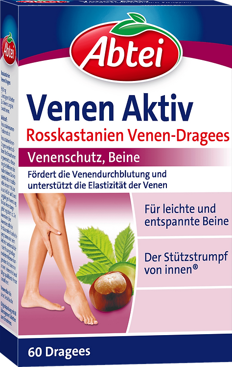 Abtei Veins Active Dragees, 60 pieces