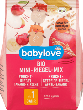 5 Packs Fruit bar organic mini bar mix from 1 year, 100 g