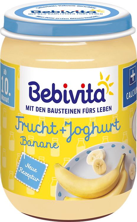 Fruit and yoghurt banana, from the 10th month, 190 g