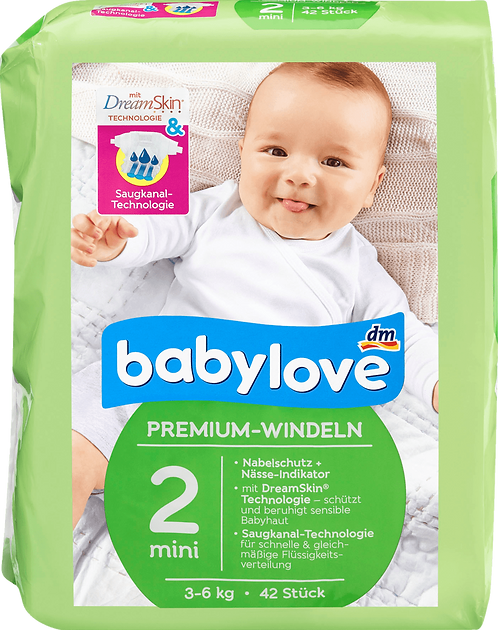 Babe Diapers Premium extra soft diapers size 2, mini 3-6kg, 42 pcs