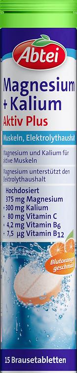 Magnesium potassium active effervescent tablets 15 pcs, 82.5 g