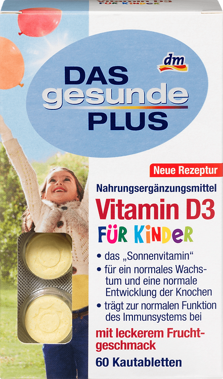 Vitamin D3 Kid Chewable Tablets, 60 pcs