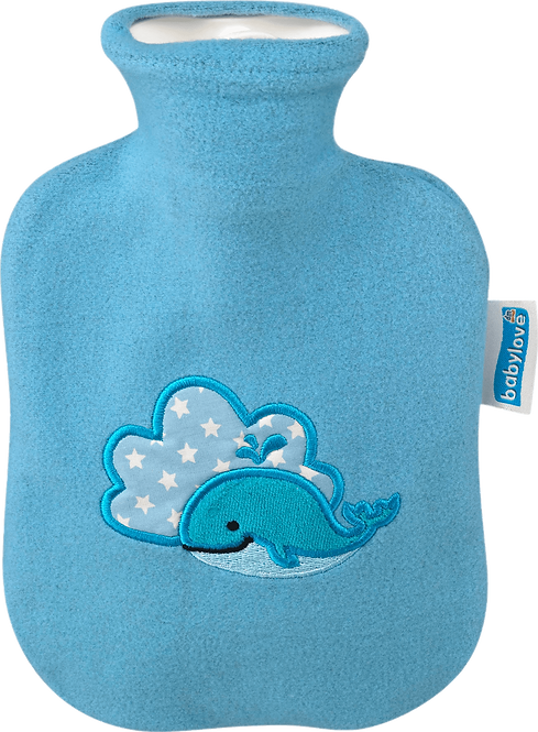Children's Hot Water Bottle Cover, whale, 1 pc