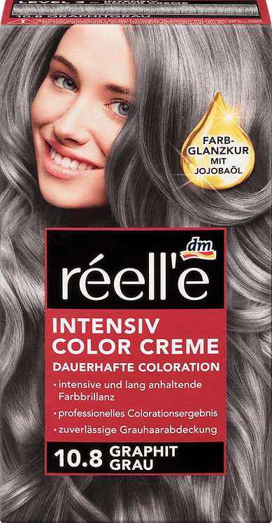 réell'e Hair color graphite gray 10.8, 1 pc, 110 ml
