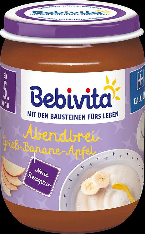 Evening porridge semolina-banana-apple, from the 5th month, 190 g