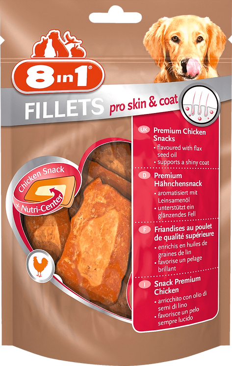 Snack for dogs per skin & coat, chicken fillet, 80g