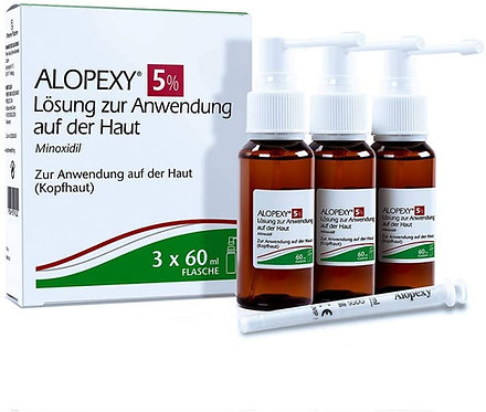 Alopexy 5% solution for use on the skin 3X60 ml