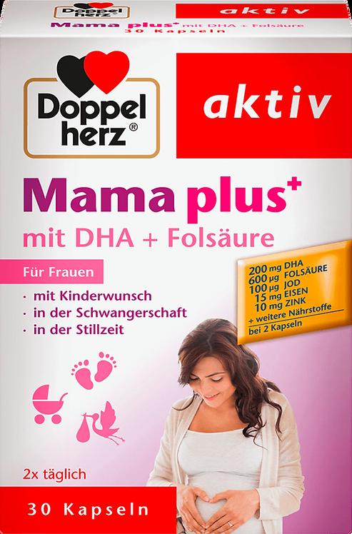Mama plus iron+ Zinc vitamin C, DHA + folic acid capsules 30 pieces, 38.4 g