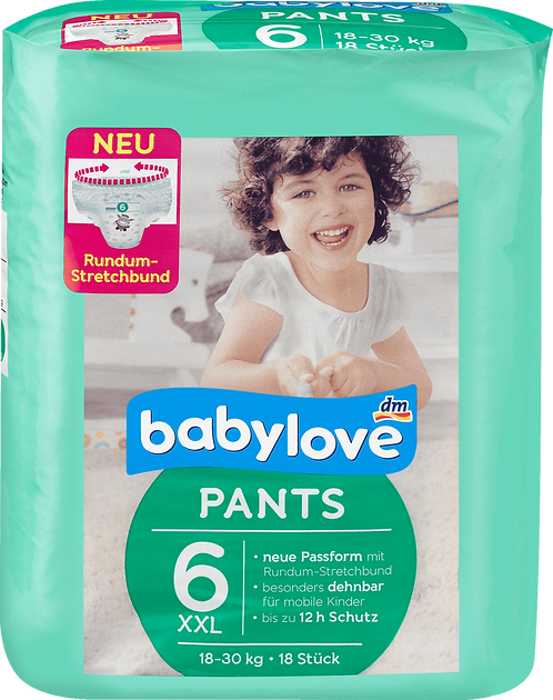 Babe Diapers Pants XXL, 18-30 kg, 18 pc