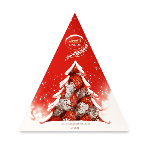 Christmas Gift Chocolate Lindor Xmas Red Fir, 187g