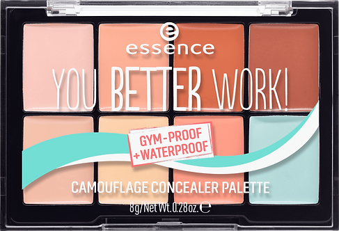 essence cosmetics Concealer you better work! camouflage concealer palette multic