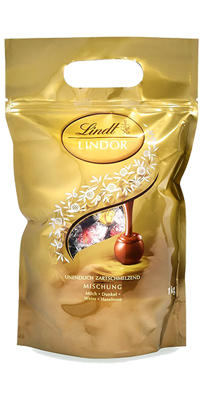 LINDT PREMIUM LINDOR BALL BAG MIX, 1000g