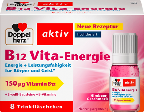Highly dosed Vitamin B12 Vita-Energie 8 drinking bottle pieces of 11.38 g, 91 g