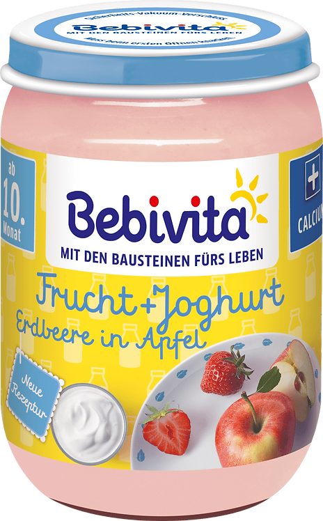 Fruit & yoghurt strawberry in apple, from the 10th month, 190 g